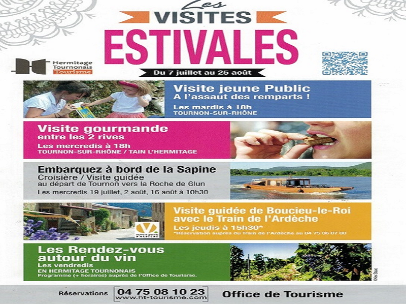 Dinature partenaire des visites estivales gourmandes 2017 - Office de tourisme tournon sur rhone ...